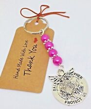 St Christopher & Guardian Angel Keyring, driving test lucky charm talisman