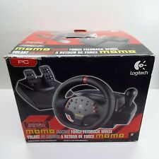 LOGITECH MOMO RACING FORCE FEEDBACK USB STEERING WHEEL AND PEDALS FOR PC (T69)