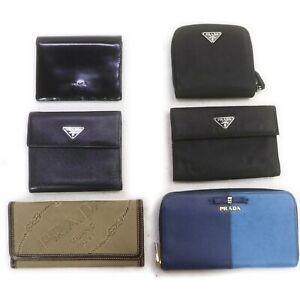 Prada Leather Nylon Enamel Canvas Wallet 6 pieces set 519020