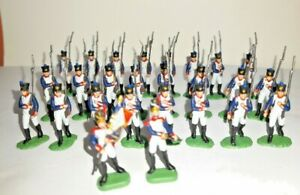 PAINTED SOLDIERS 1/72 20mm - FRENCH INFANTRY NAPOLEONIC WARS x 26 WATERLOO 1815