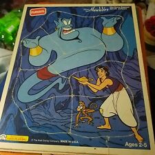 Vintage Disney/Playskool Aladdin, The Genie Appears , Wooden Frame Tray Puzzle