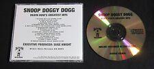 SNOOP DOGG 'DEATH ROW'S GREATEST HITS' 2001 PROMO CD—RARE