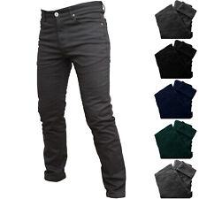 Pantalone Felpato Uomo Jeans Vita Alta Classico Imbottito Invernale Nero Blu Gri