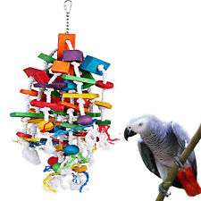 New listing Parrot Bird Chewing Toy Funny Hanging Swing Bird Cage Budgie Bite Toys