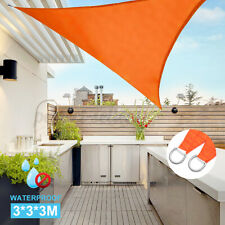 CelinaSun awning sun protection garden balcony PES polyester water-repellent triangle 2.5 x 2.5 x 3.5 m terracotta