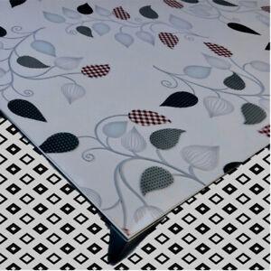 Tischfolie Tischdecke Schutzfolie mit Muster 1,7mm Transparent Klar Weich-PVC 15