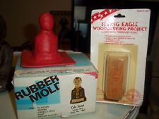 Boy Scout Cub Rubber Mold Plaster Soap Flying Eagle Carving Project Bird Vintage