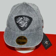 Harley Davidson Men M Eagle Distressed Denim 59FIFTY Cap Hat Gray 97780-19VM NWT
