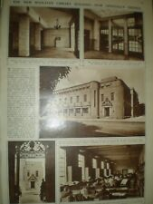 Photo article new Bodleian library opens Oxford 1946 ref Ap