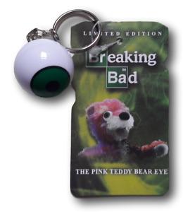 BREAKING BAD PINK TEDDY BEAR EYE EXCLUSIVE KEYCHAIN KEYRING NYCC MEZCO L.E.