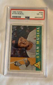 1960 Topps Stan Musial Baseball Card #250 PSA 4