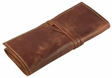 Rustic Genuine Leather Pencil Roll - Pen and Pencil Case by Rustic Ridge Leather