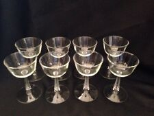 Clear Libbey/Rock Sharpe 3002 Liquor Cocktail Glass Goblet Set of 8