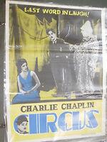 CHARLIE CHAPLIN CIRCUS comedy RARE POSTER INDIA NFDC release original