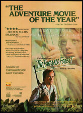 THE EMERALD FOREST__Original 1985 print AD movie promo__POWERS BOOTHE_MEG FOSTER