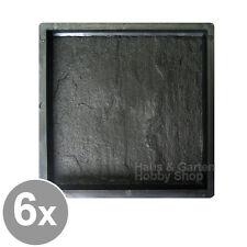 6x Gießform Schalungsform für Beton Marmor Bodenplatte Fliesen Gartenplatte 25cm