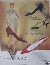 VITALITY WOMENS SHOES OLIVIA VINTAGE 1959 PRINT AD