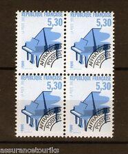 PRÉOBLITÉRÉS - 1990 YT 222 - bloc de 4 - TIMBRES NEUFS** LUXE