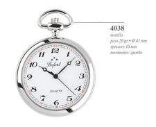 4038 Orologio da Tasca Bofort Perseo Movimento Quarzo Catena inclus Pocket Watch