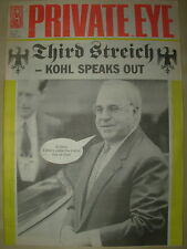 PRIVATE EYE MAGAZINE No 793 MAY 8 1992 THIRD STREICH - KOHL SPEAKS OUT