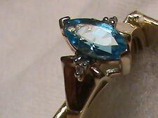 Beautiful 10k Gold Blue Topaz  Ring, Size 7