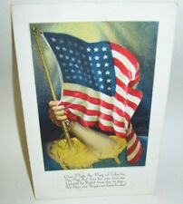 George Washington Two Cent Stamp on Patriotic Postcard Our Flag