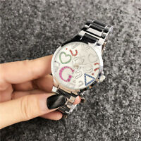 2018 New Women's Dress Stainless steel Zircon inlay WristWatch Bear Watches