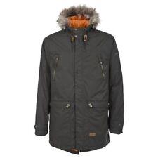 Popper Hooded Raincoats for Men