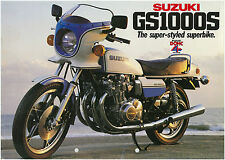 SUZUKI Brochure GS1000S GS1000 S 1979 Sales Catalog REPRO