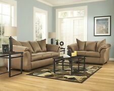 Ashley Furniture Darcy Mocha Sofa and Loveseat Living Room Set