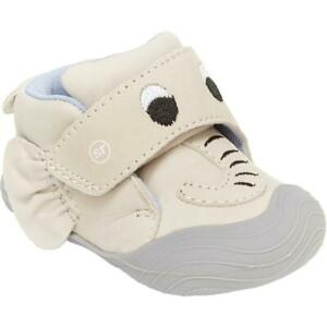 Stride Rite Campbell Gray Leather Pre-Walker Casual Booties Shoes 3 MO BHFO 0776