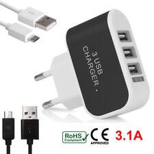 USB Mehrfachstecker 3 Fach Mehrfach Anschluss Schnell Ladegerät Netzteil Adapter