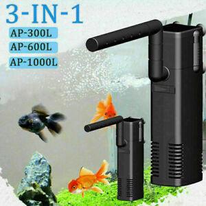 Small Internal Aquarium Filter Water Pump Spray Air Tube Fish Tank Filtration
