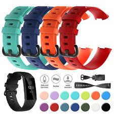 For FitBit Charge 3 / 4 SE Soft Silicone Watch Band Strap Wristband Replacement