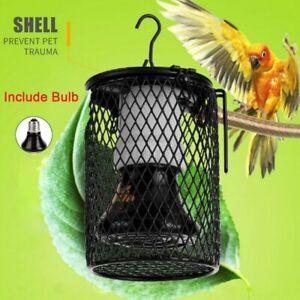 Anti-scald Heat Lamp Ceramic Lamp Holder Light Cage Reptile Snake Chicken+Bulb