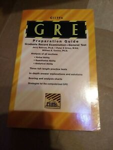 GRE Preparation Guide : Graduate Record Examination by Cliffs Notes Staff