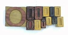 Letterpress O Letter Wood Type Printers Block Lot Of 12 Typography Eb 169