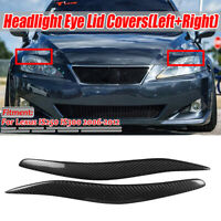 REAL Carbon Fiber Headlight Eyebrow Eyelids Cover For Lexus IS250 IS300