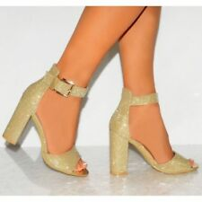 Unbranded Buckle Strappy Heels for Women