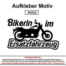 Bikerin im - Autoaufkleber Aufkleber Fun Spaß Sticker Tuning Lustige Sprüche