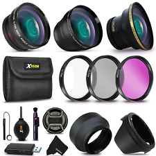 58MM Lenses + Accessories Kit for CANON EOS 80D, 70D, 60D, 7D Mark II, 6D, 5D