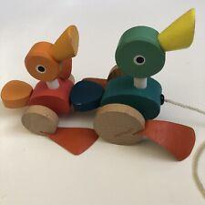 Janod Little Ducks Pull Along Wooden Toy