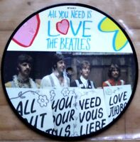 "New! Beatles Picture Disc 7"" Vinyl All You Need Is Love The 20th Anniversary"