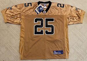 Reggie Bush Authentic New Orleans Saints Gold Jersey #25  Size 52 Reebok NWT