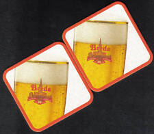 Beermats Coasters x 2 Holland Breda , Unused beermat (z015)