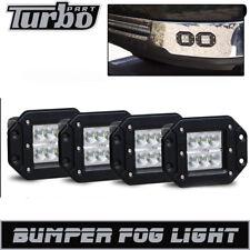 4PCS Flush Mount Rear Fog Lights Offroad Driving Lamps GMC Sierra 1500/2500/3500