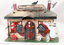 Vintage Metal Spooky Town Halloween Cafe T Candle Colorful Collector New Decor
