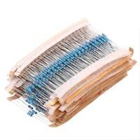 64 Values 1280 Pcs 1 ohm - 10M ohm 1/4W Metal Film Resistors Assortment Kit
