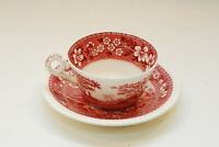 Spode Tower Older Mark Pink Cup Cups & Saucer Saucers