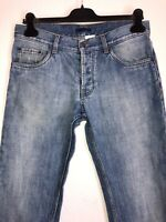 PRADA Jeans Denim Tapered Fit Hose Blau Used Style Gr. 31  ☆